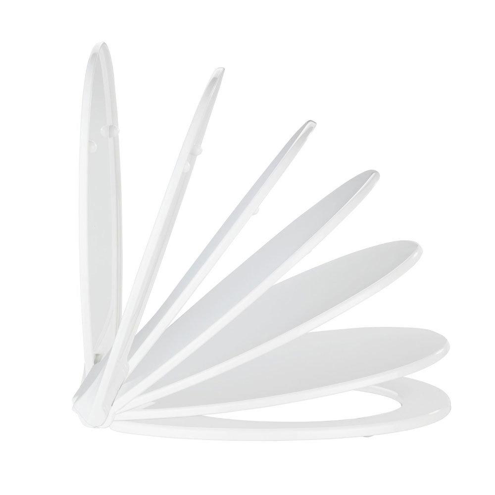 Wenko Kos Soft Close Toilet Seat - White profile large image view 4