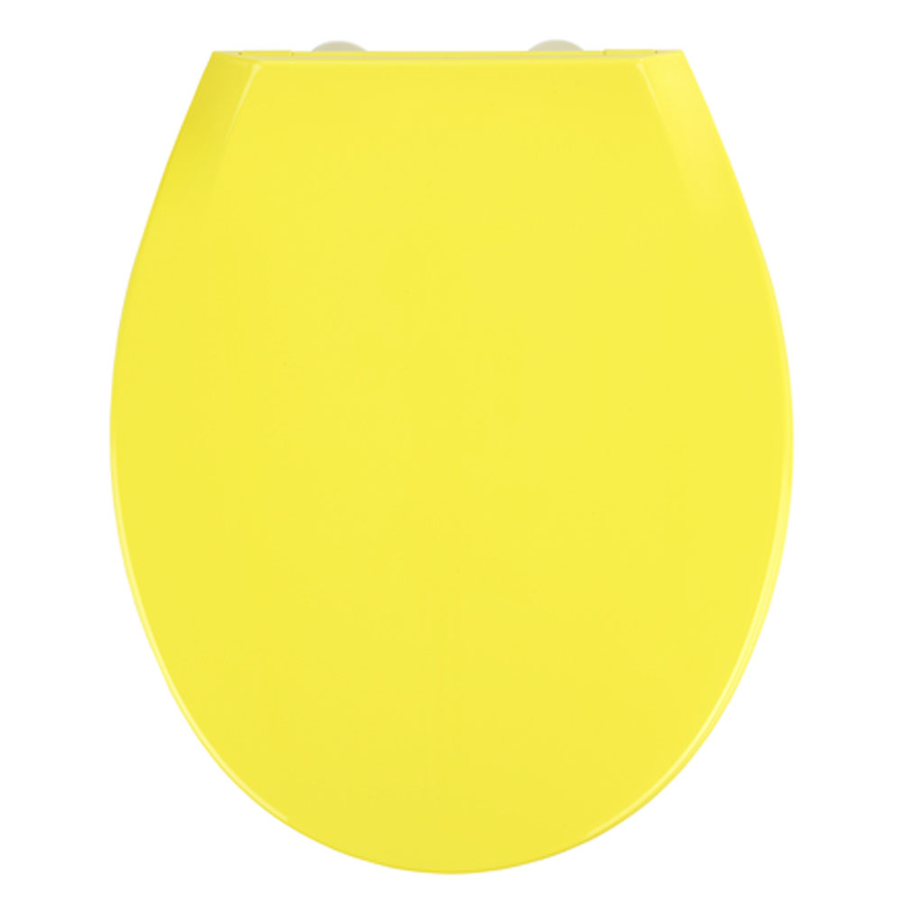 Wenko Kos Soft Close Toilet Seat - Yellow profile large image view 1