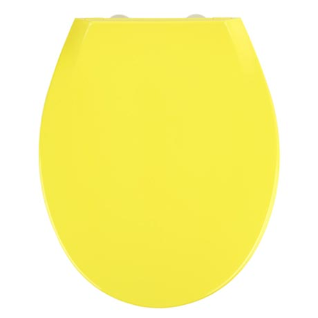 Wenko Kos Soft Close Toilet Seat - Yellow