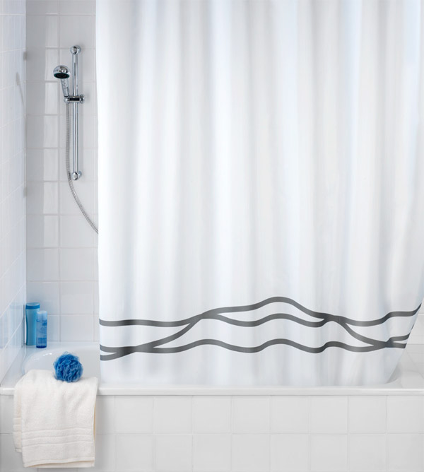 Wenko - Noa Anti-Mold Polyester Shower Curtain - W1800 x H2000mm - 20515100 Large Image