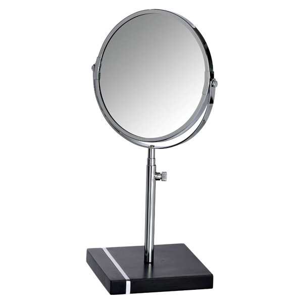 Wenko - Noble Extendable Cosmetic Mirror - Black - 20467100 profile large image view 1