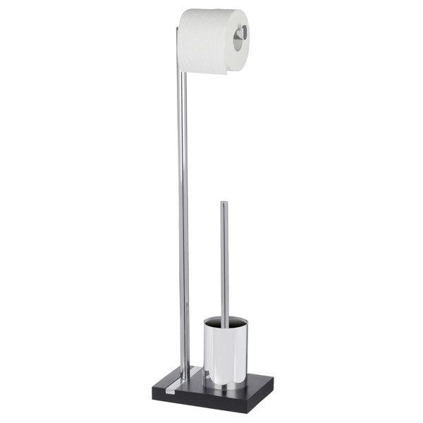 Wenko - Noble Standing WC Set - Black - 20460100 Large Image