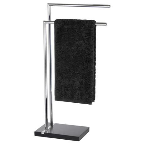 Wenko - Noble Towel Stand - Black - 20461100