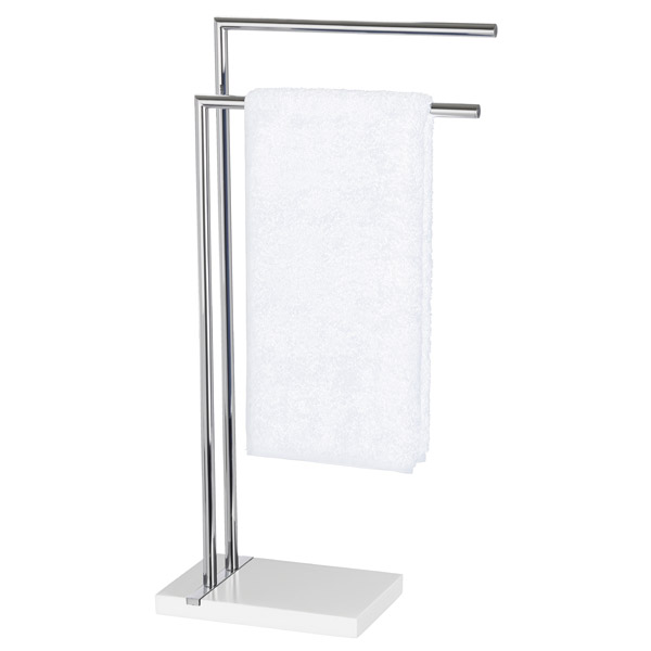 towel stand chrome nameeks wenko noble towel stand white 20487100 at victorian plumbing uk