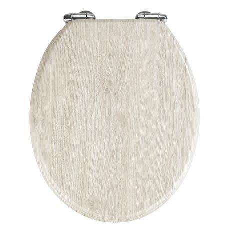 Wenko Oak Grey MDF Soft Close Toilet Seat