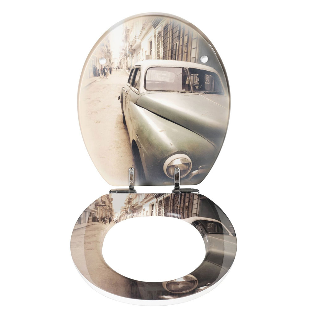 Wenko Old-Time Car Soft Close Toilet Seat profile large image view 2