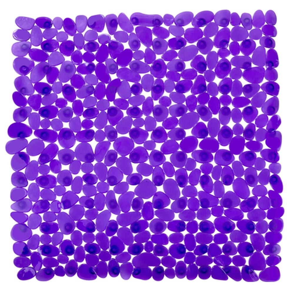 Wenko Paradise 54 x 54cm Shower Mat - Purple - 20269100 profile large image view 1