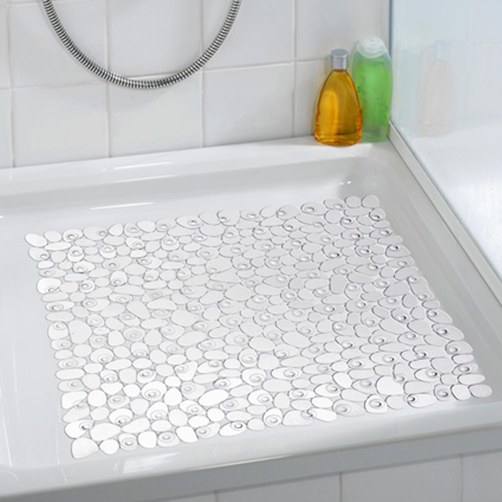 Wenko Paradise 54 x 54cm Shower Mat - Transparent - 20265100 profile large image view 2