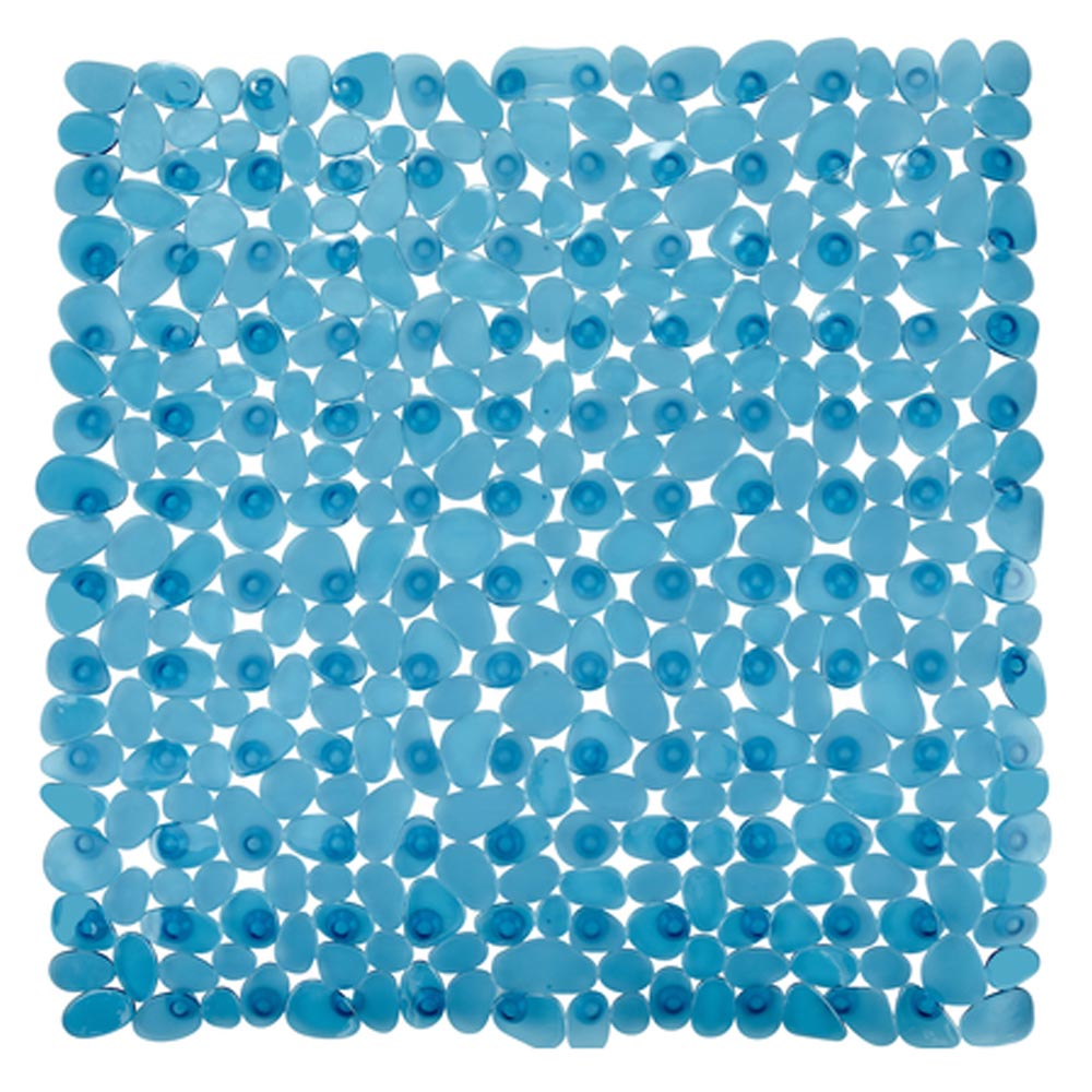 Wenko Paradise 54 x 54cm Shower Mat - Turquoise - 20263100 profile large image view 1