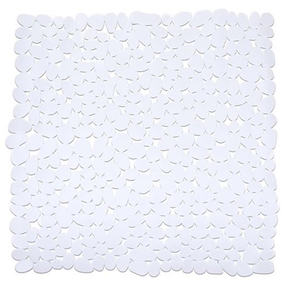 Wenko Paradise 54 x 54cm Shower Mat - White - 20277100 profile large image view 1
