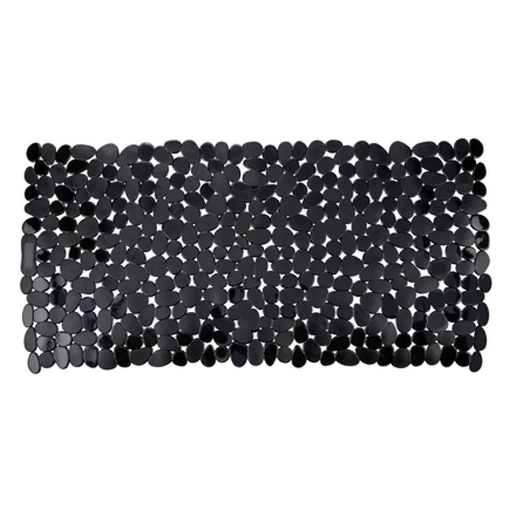 Wenko Paradise 71 x 36cm Bath Mat - Black - 20274100 Large Image
