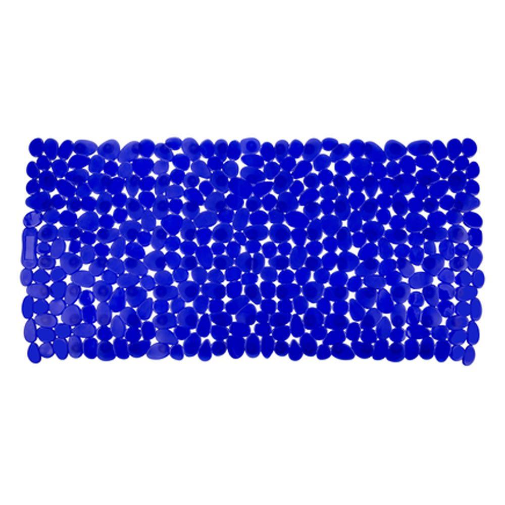 Wenko Paradise 71 x 36cm Bath Mat - Blue - 20270100 Large Image