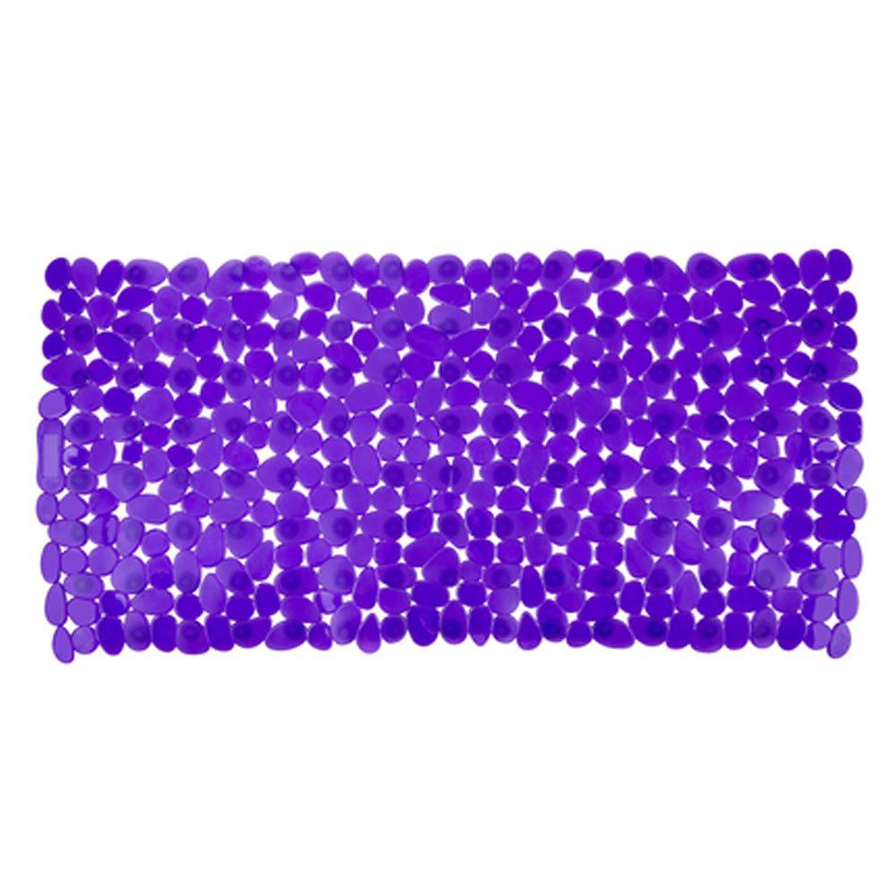 Wenko Paradise 71 x 36cm Bath Mat - Purple - 20268100 Large Image