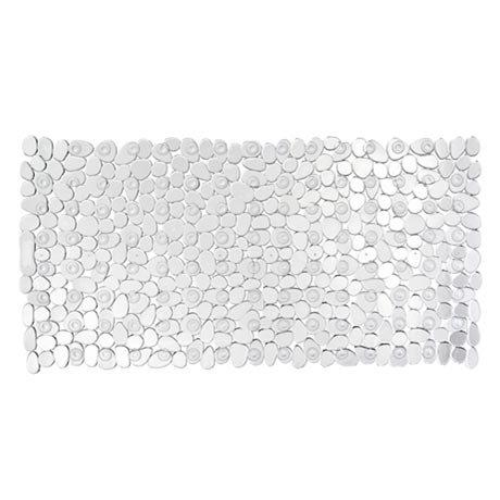 Wenko Paradise 71 x 36cm Bath Mat - Transparent - 20264100