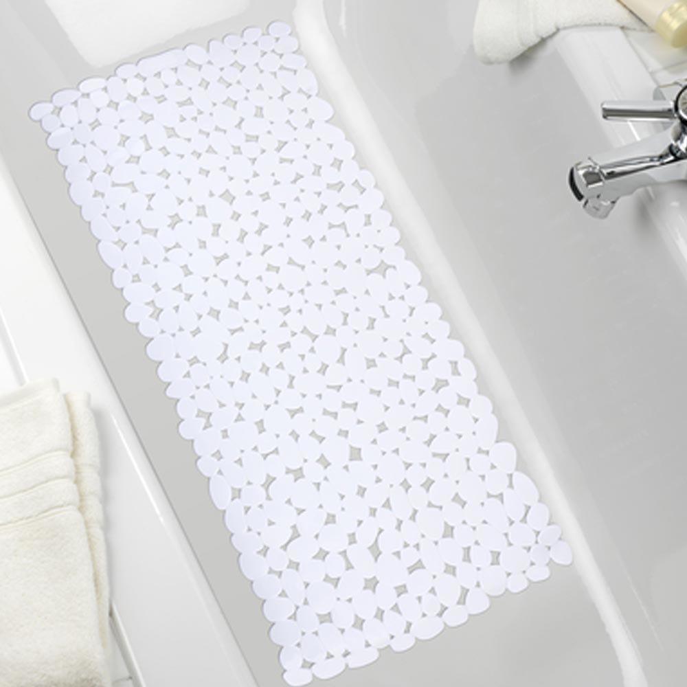 Wenko Paradise 71 x 36cm Bath Mat - White - 20276100 profile large image view 2