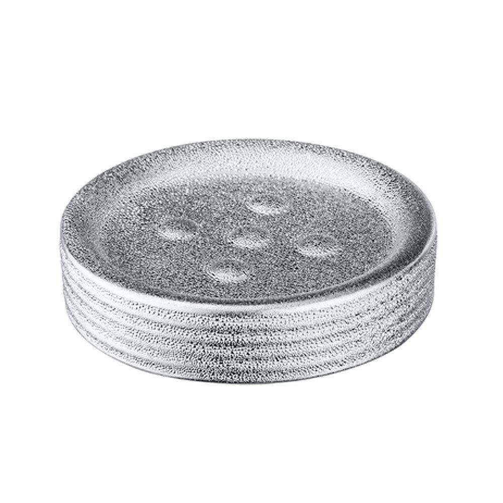 Wenko Polaris Juwel Ceramic Silver Soap Dish - 21994100 Large Image