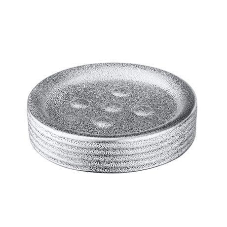 Wenko Polaris Juwel Ceramic Silver Soap Dish - 21994100