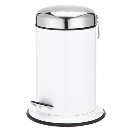 Wenko - Retoro 3 Litre Cosmetic Pedal Bin - Stainless Steel - White - 17901100