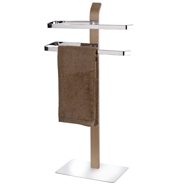 Wenko - Samona Standing Towel Stand - Nature - 20396100 Large Image