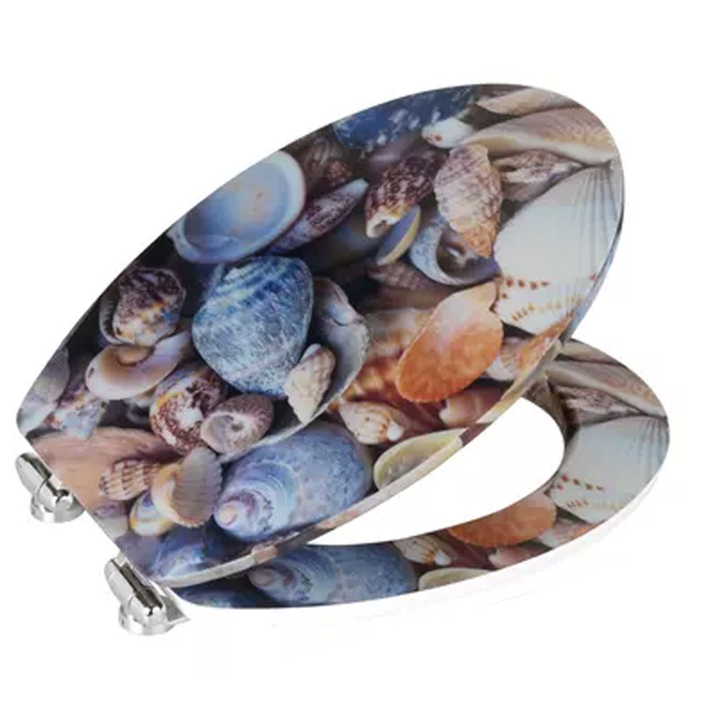Wenko Sea Shell 3D Effect Soft Close Toilet Seat profile large image view 3