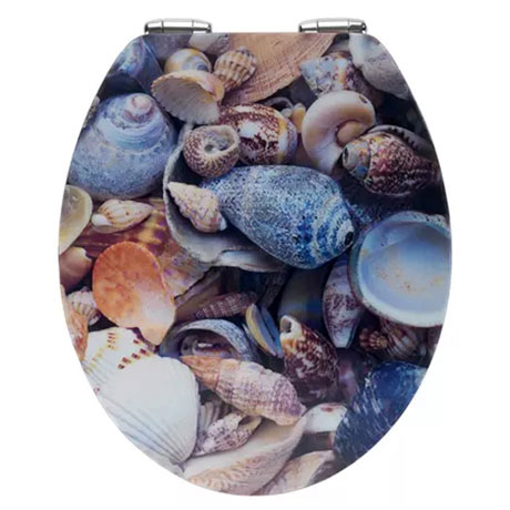 Wenko Sea Shell 3D Effect Soft Close Toilet Seat