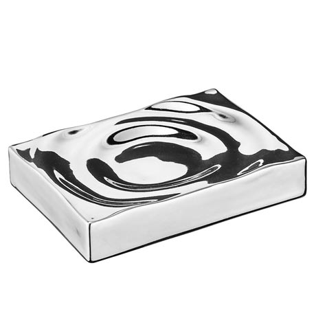 Wenko Signs Ceramic Soap Dish - Chrome