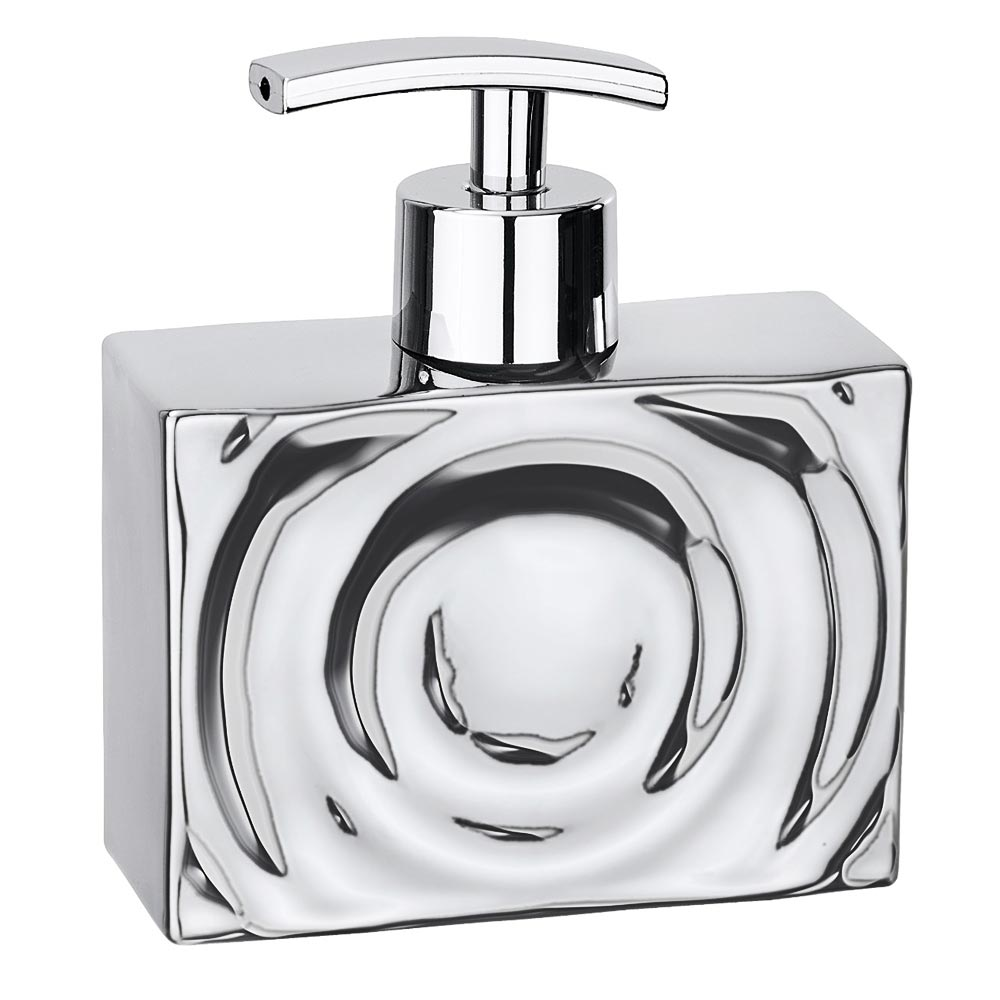 Wenko Signs Ceramic Soap Dispenser - Chrome profile large image view 1