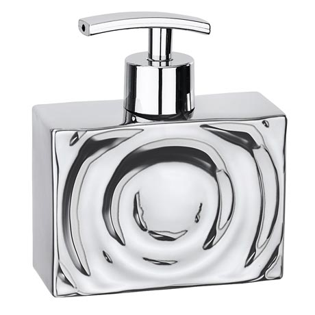 Wenko Signs Ceramic Soap Dispenser - Chrome