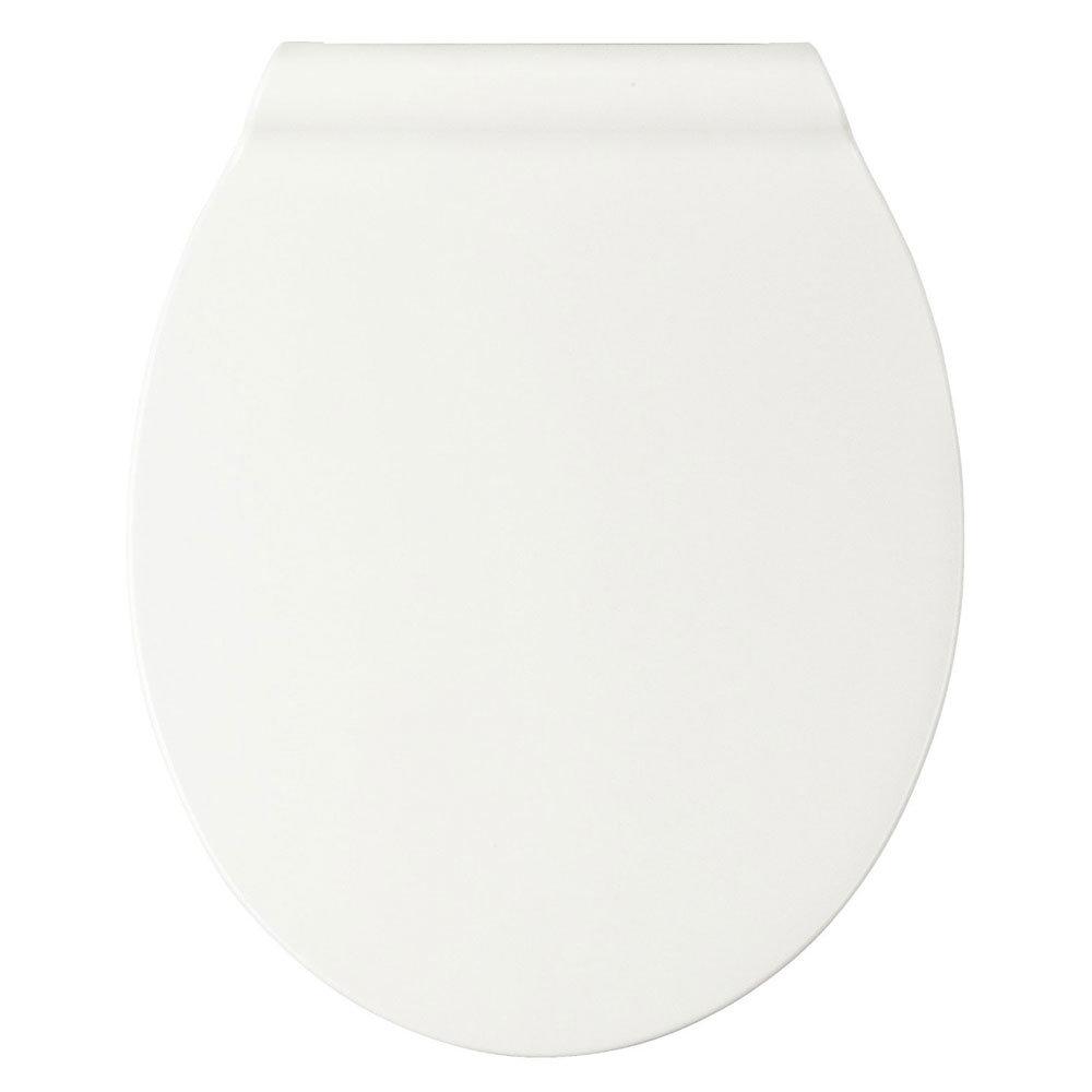 Wenko Slimline Soft Close Toilet Seat - White Profile Large Image