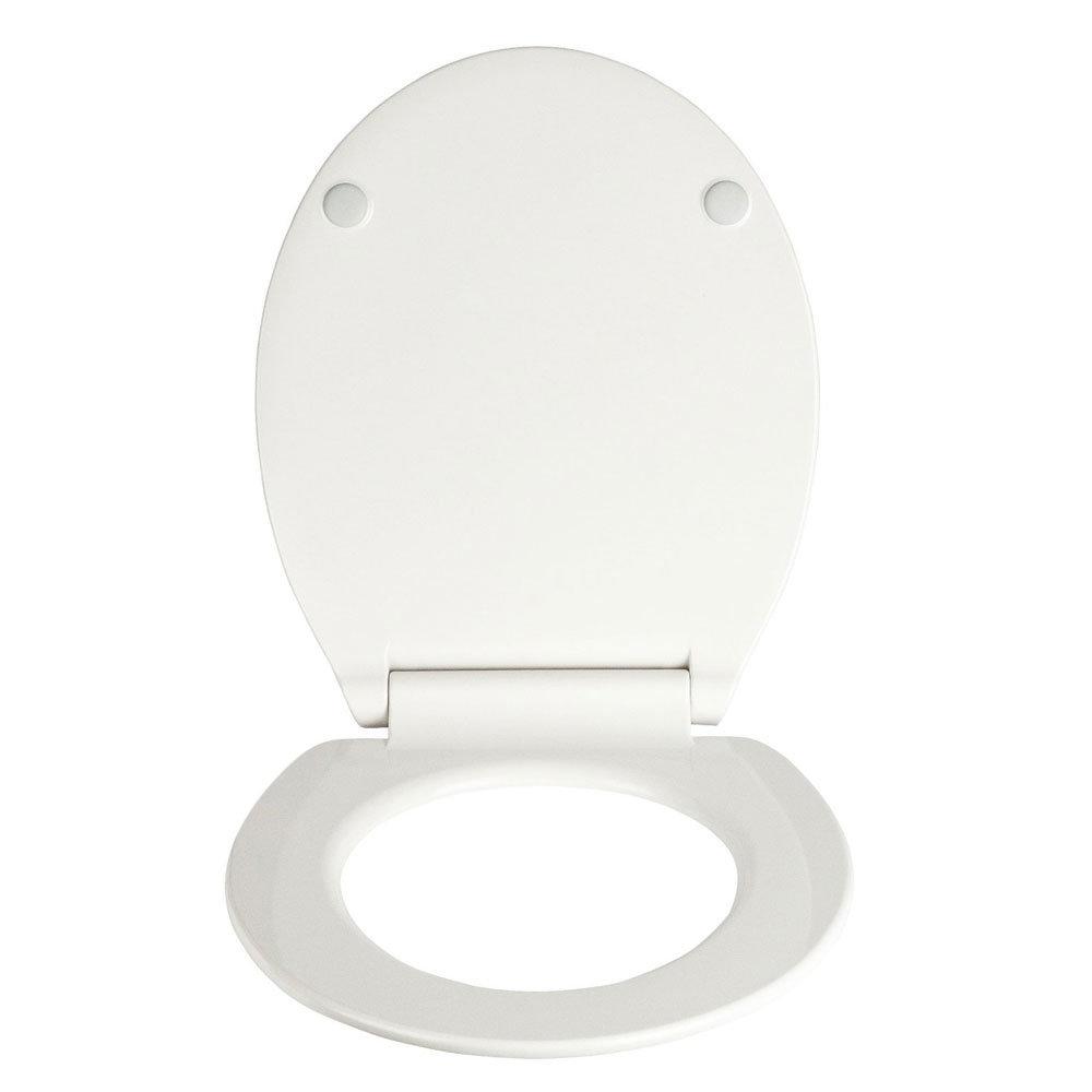 Wenko Slimline Soft Close Toilet Seat - White Feature Large Image