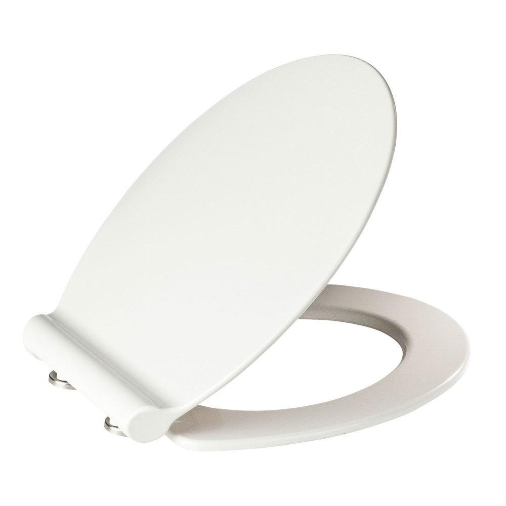 Wenko Slimline Soft Close Toilet Seat - White Large Image
