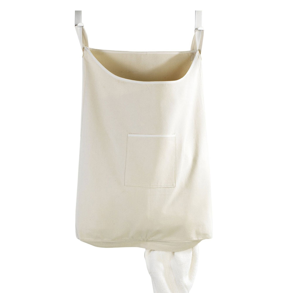 Wenko Space-Saving Laundry Bag - Beige Large Image
