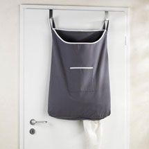 Wenko Space-Saving Laundry Bag - Dark Grey Medium Image