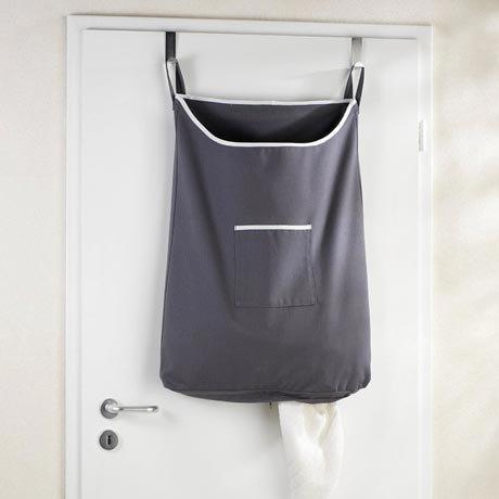 Wenko Space-Saving Laundry Bag - Dark Grey