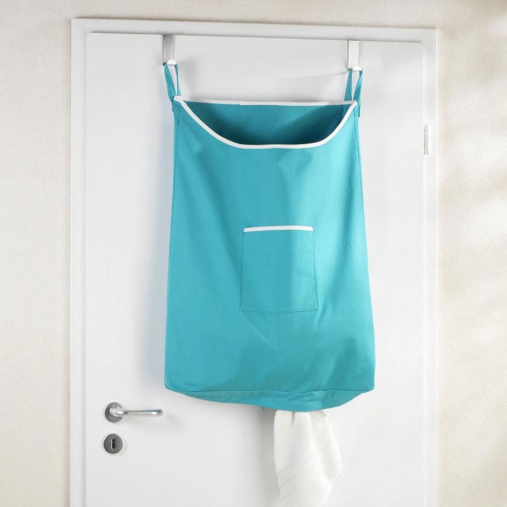 Wenko Space-Saving Laundry Bag - Turquoise Large Image