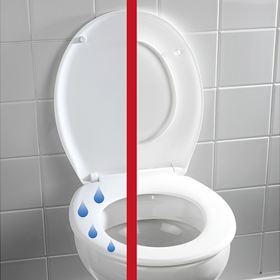 Wenko Splash Guard Soft-Close Toilet Seat - 21828100 Large Image