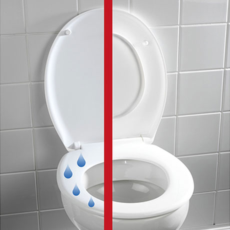 Wenko Splash Guard Soft-Close Toilet Seat - 21828100