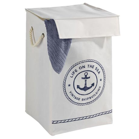 Wenko Sylt Maritime Design Single Laundry Bin