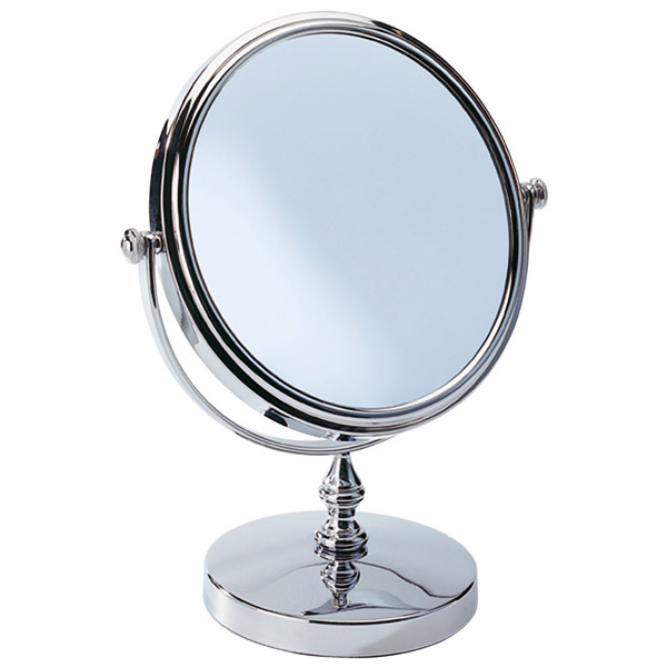 Wenko - Romantic Cosmetic Mirror - 3x magnification - Chrome - 3656190100 Large Image