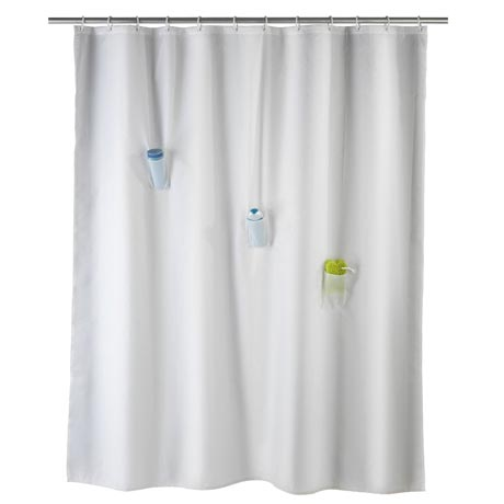 Wenko Villa Anti-Mold Shower Curtain with 3 Pockets - W1800 x H2000mm