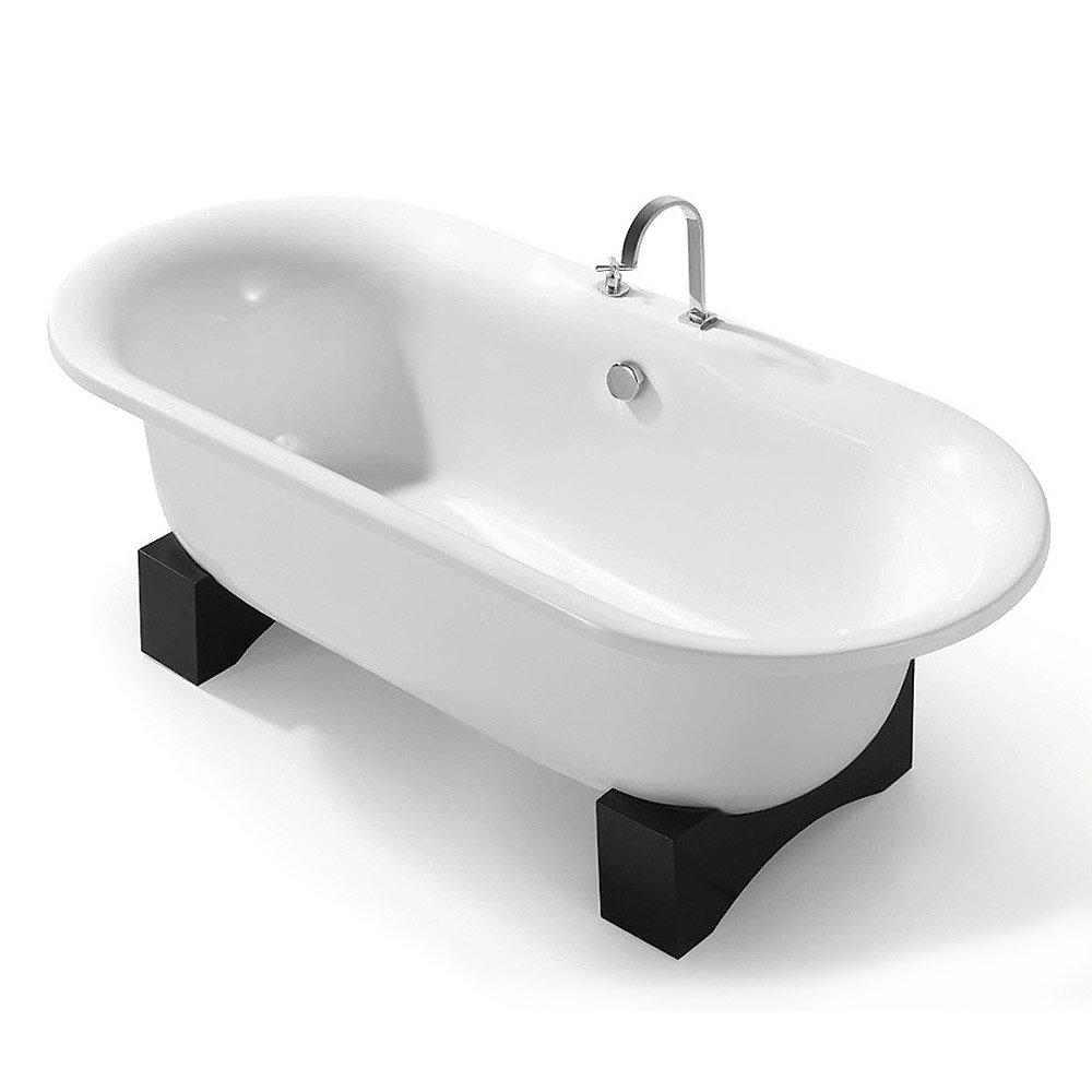 Freestanding Tub With Wood Base Gifklikker