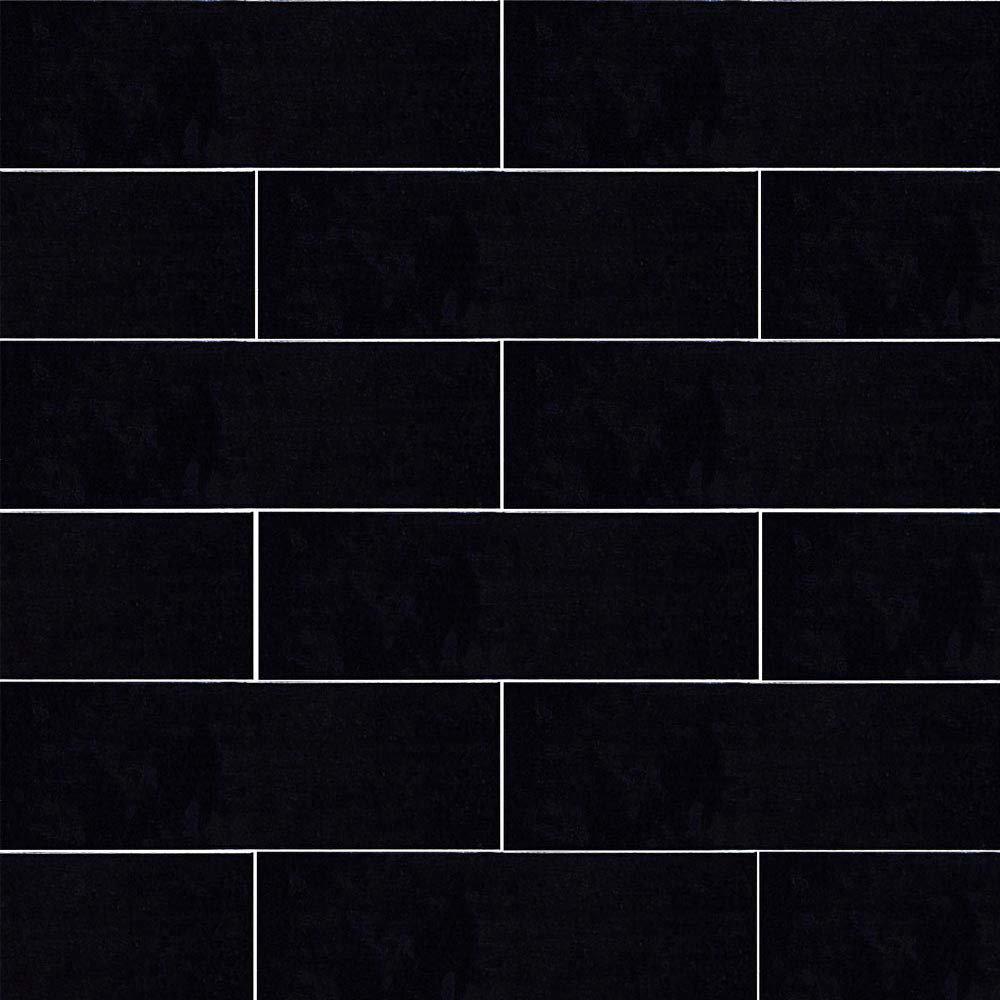 Westbury Rustic Metro Wall Tiles - Black - 30 x 10cm  Feature Large Image