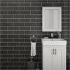 Westbury Rustic Metro Wall Tiles - Black - 30 x 10cm Small Image