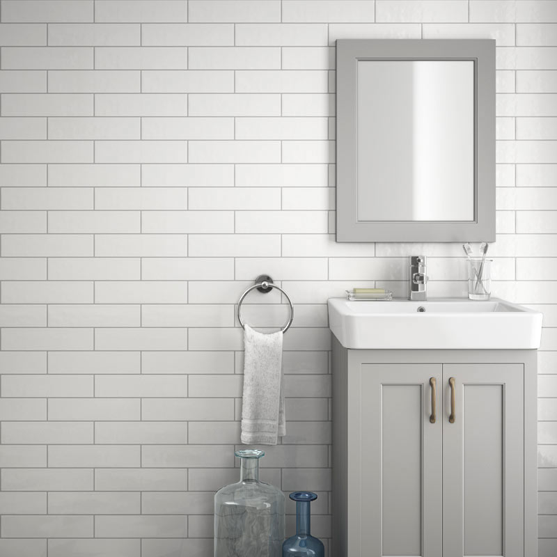 Westbury Rustic Metro Wall Tiles White 30 X 10cm Pack Of 34