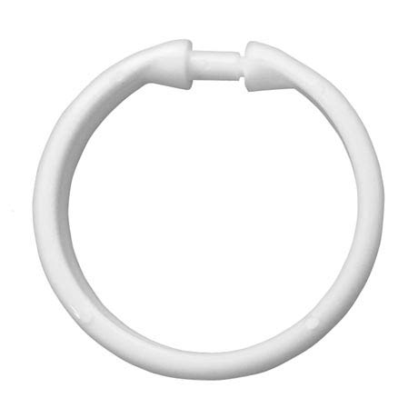 12 White Round Shower Curtain Rings