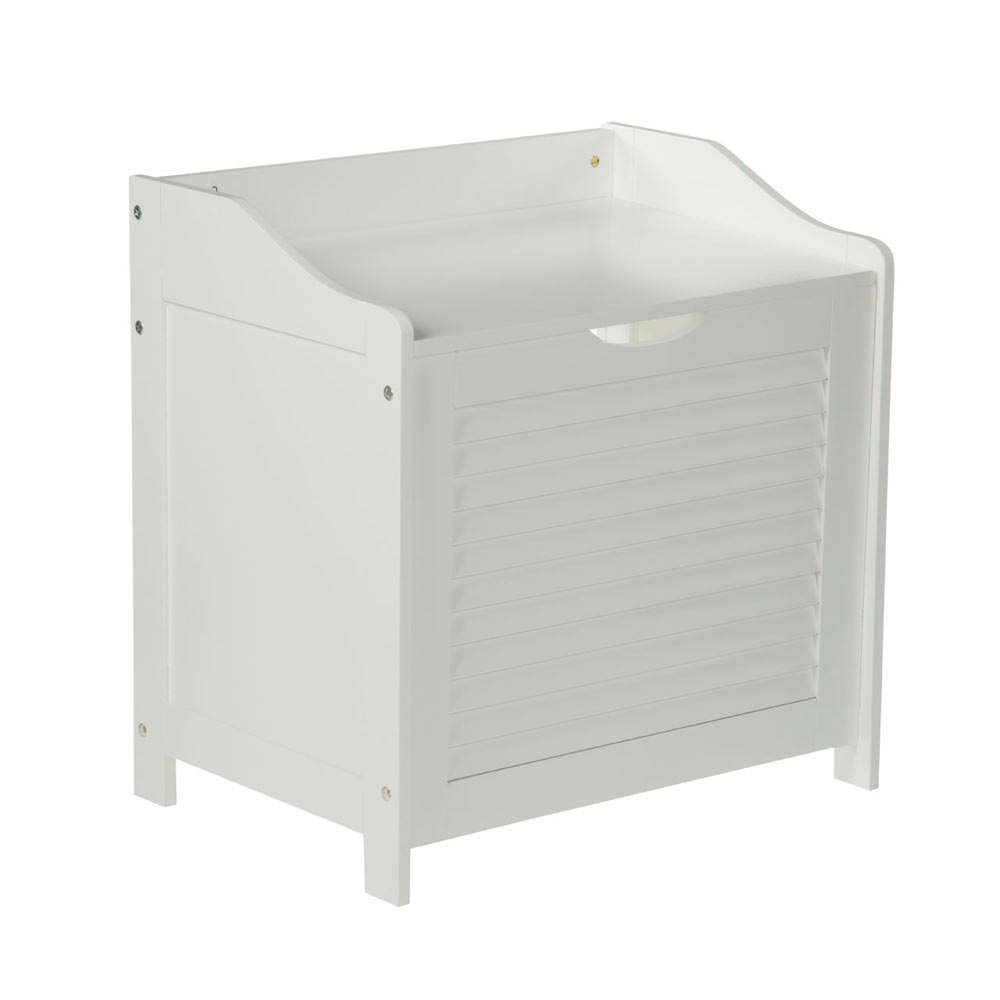 White Shutter Laundry Storage Cabinet 1600902 At