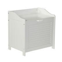 White Shutter Laundry Storage Cabinet - 1600902 Medium Image