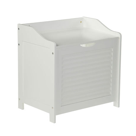 White Shutter Laundry Storage Cabinet - 1600902