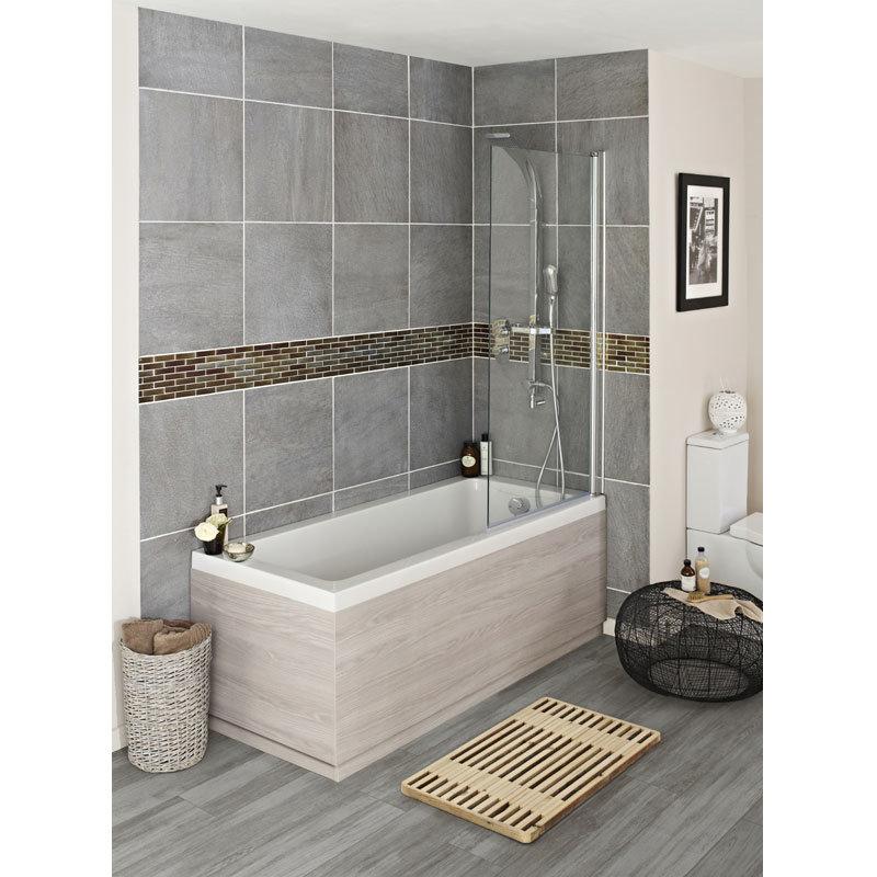 Hudson Reed White Sawn Oak End Bath Panel - 3 Size Options profile large image view 2