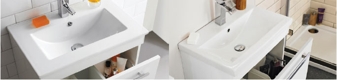 Different basin designs side by side comparison